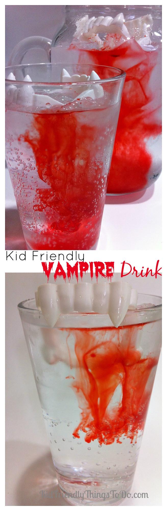 Halloween Foods And Drinks  Kid Friendly Halloween Vampire Drink