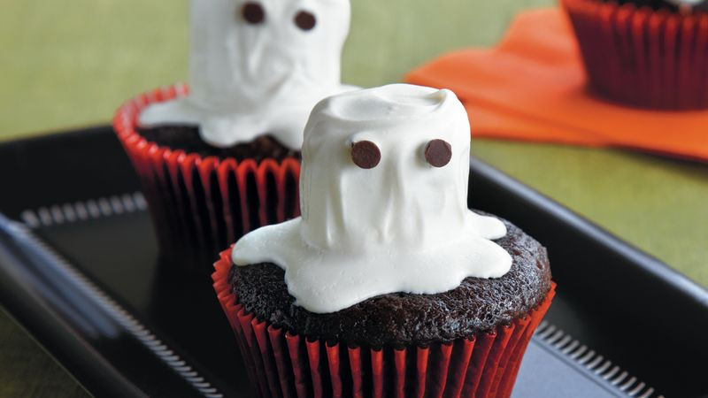 Halloween Ghost Cupcakes  Halloween Ghost Cupcakes recipe from Betty Crocker