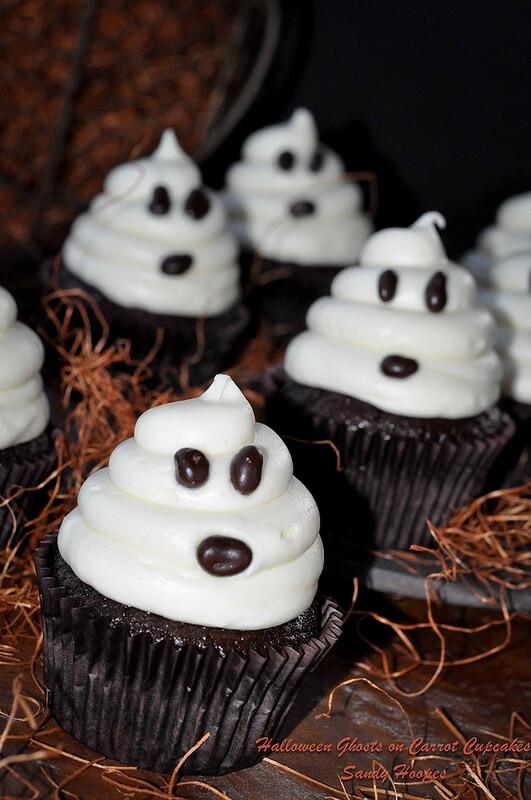 Halloween Ghost Cupcakes  I E S Muro Bilingual Blog Halloween Tasting