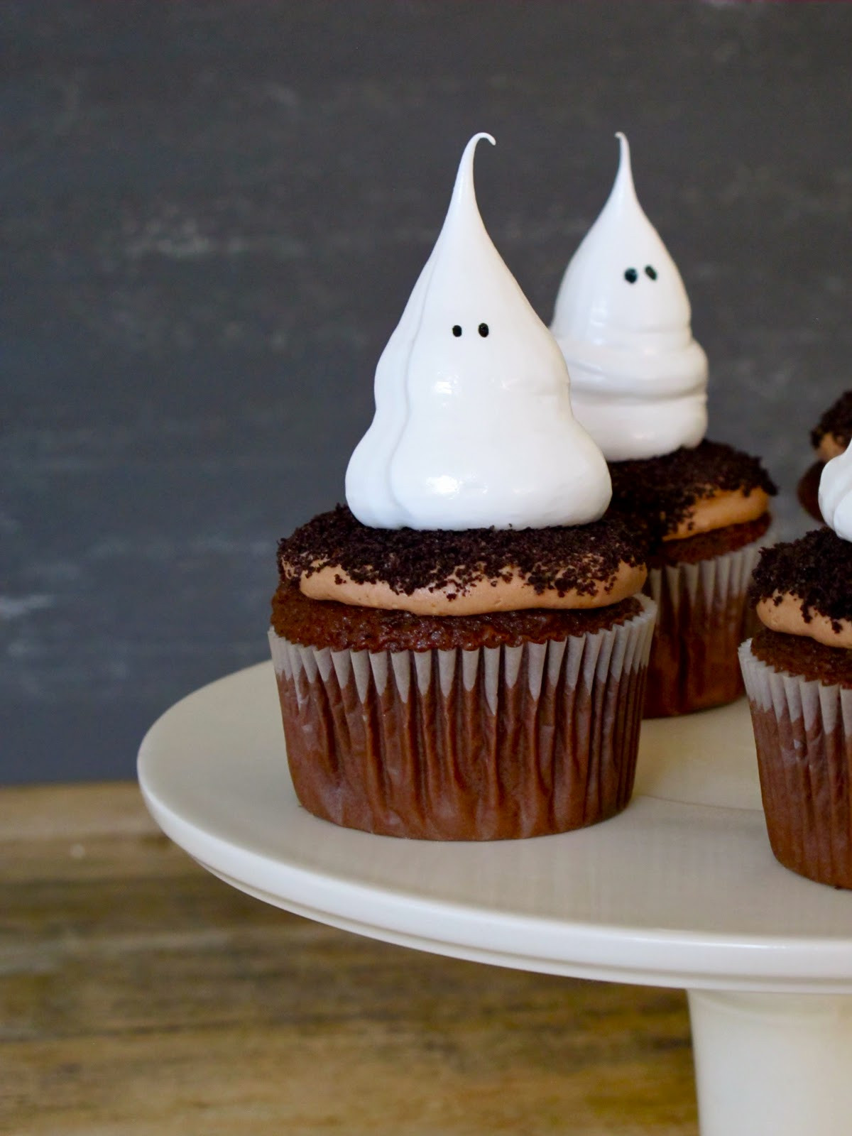 Halloween Ghost Cupcakes  Jenny Steffens Hobick Halloween Cupcakes