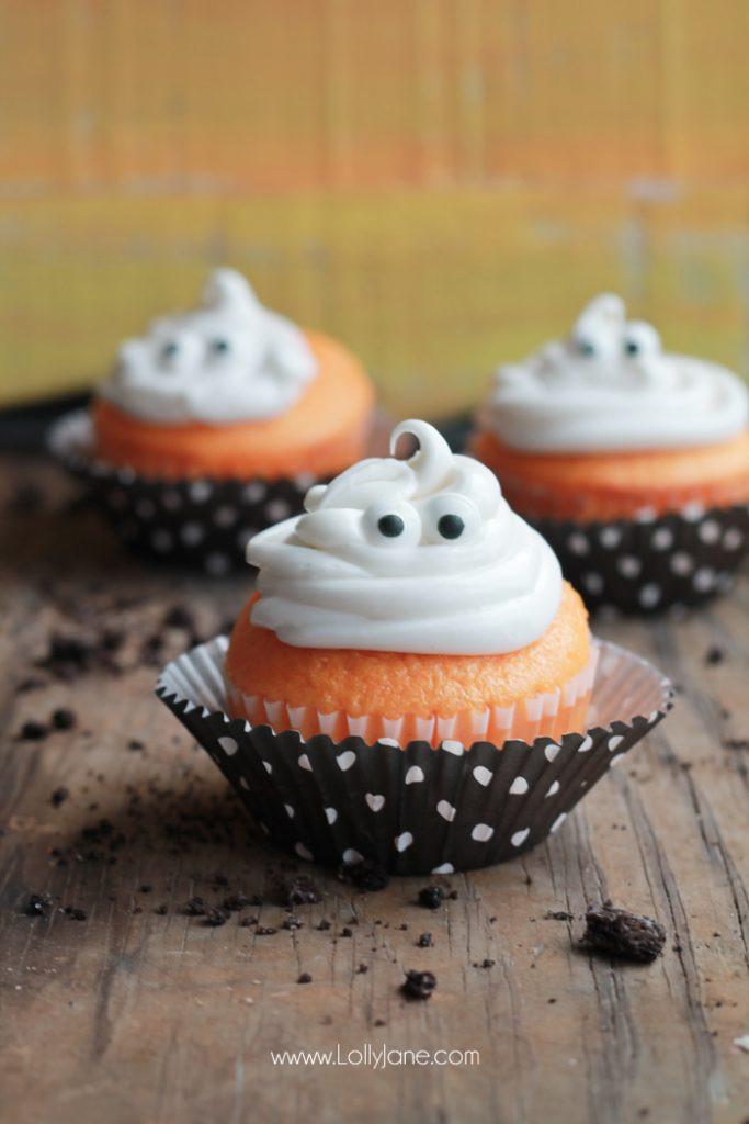 Halloween Ghost Cupcakes  Fanta Halloween Ghost Cupcakes