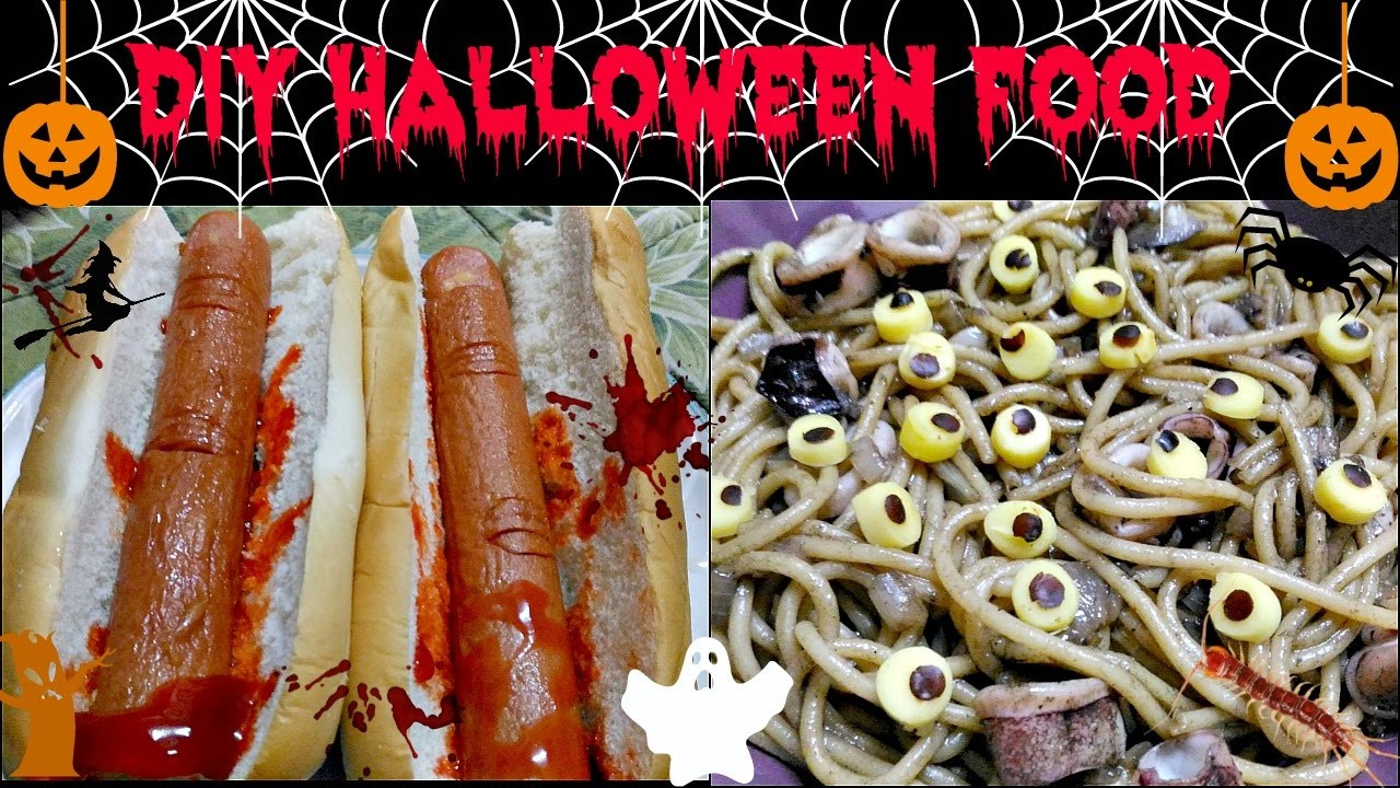 Halloween Hot Dogs  Halloween Food Ideas Bloody Hot dog Finger & Eyeball