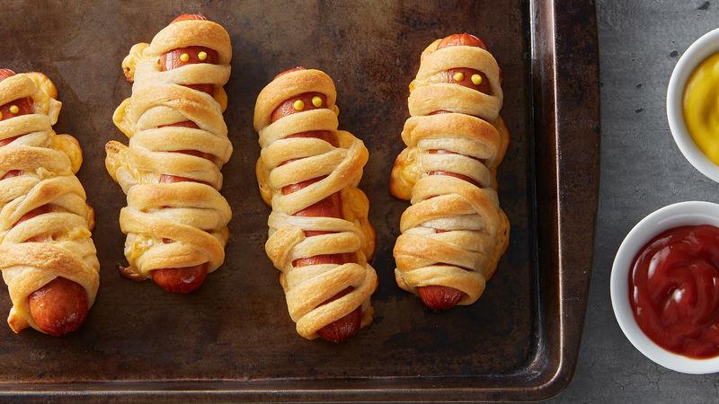 Halloween Hot Dogs Mummy  Crescent Mummy Dogs Recipe Pillsbury