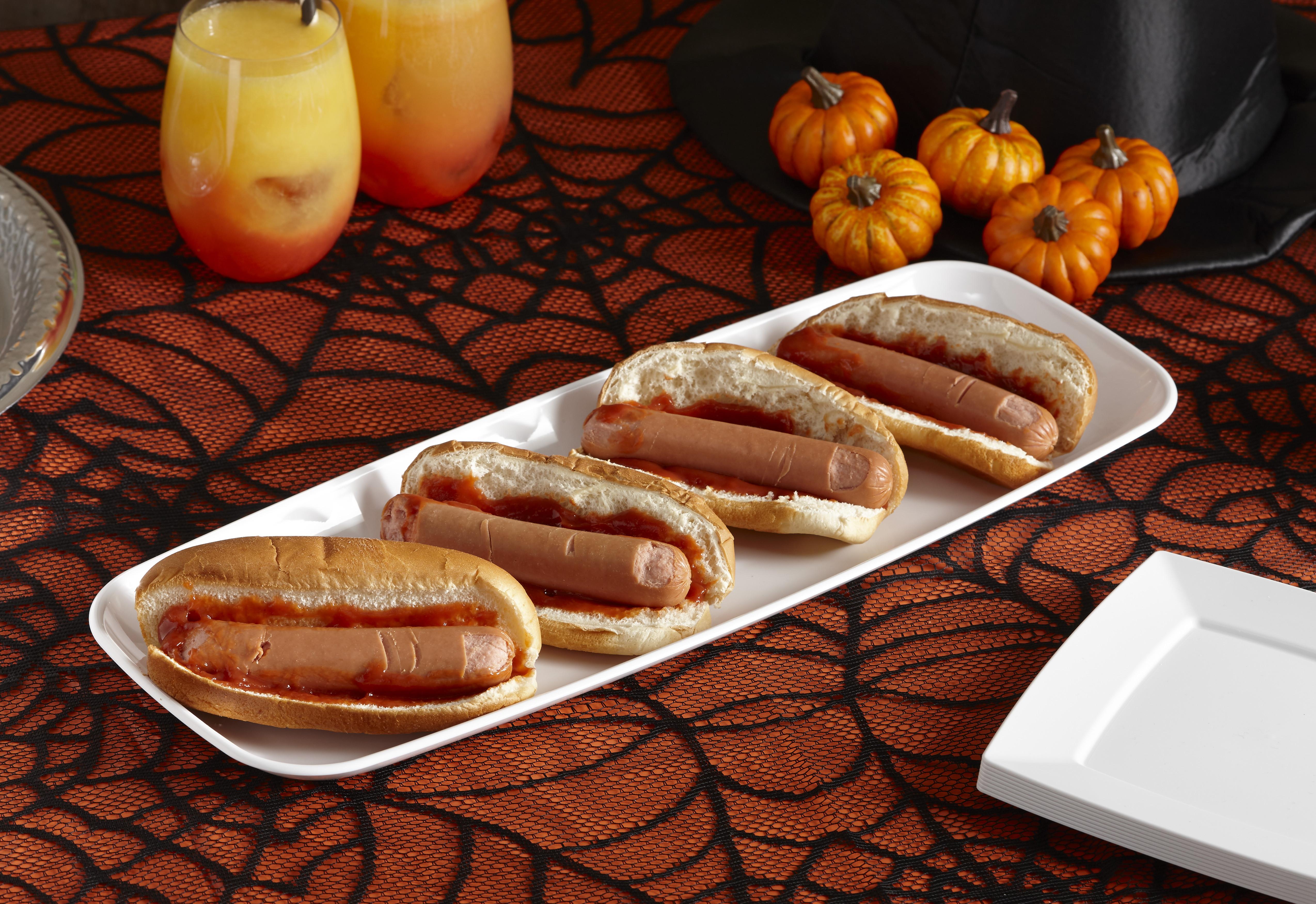 Halloween Hot Dogs  Halloween Hot Dog Fingers
