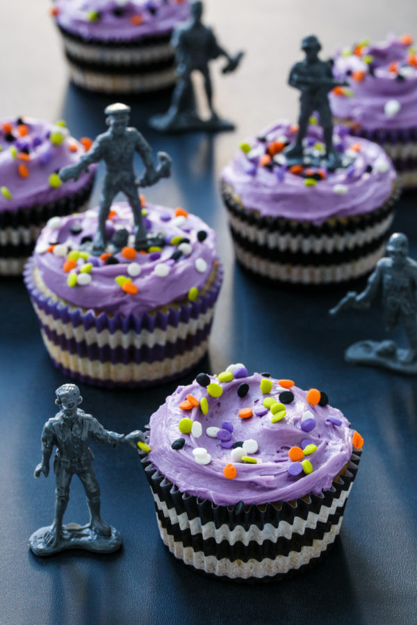 Halloween Inspired Cupcakes  Halloween Confetti Cupcakes