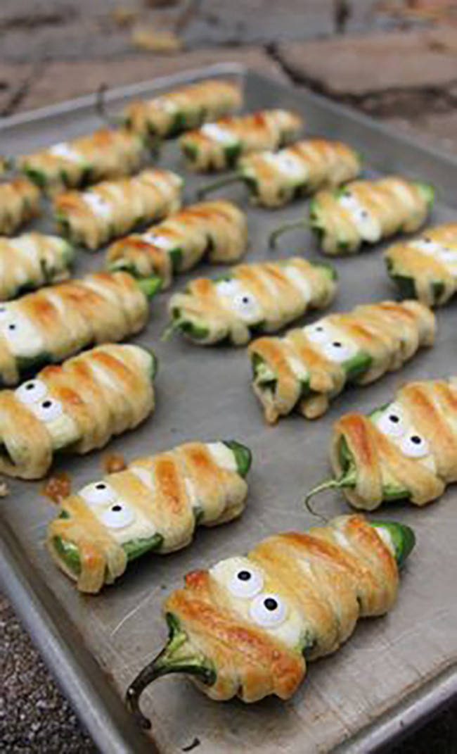 Halloween Jalapeno Poppers  15 Fall Appetizers Recipes My Life and Kids