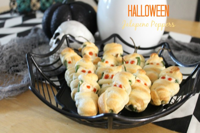 Halloween Jalapeno Poppers  Halloween Mummy Jalapeno Poppers