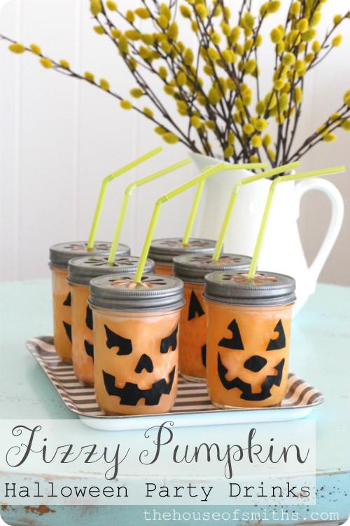 Halloween Kid Drinks  Fizzy Pumpkin Halloween Drink Party Tips