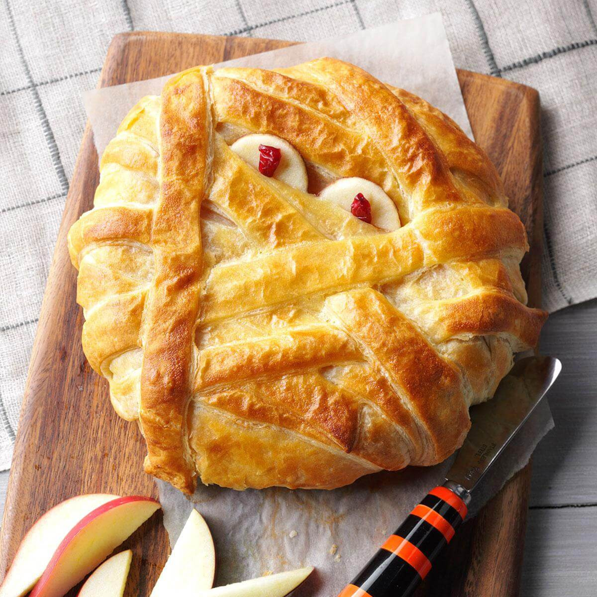 Halloween Main Dishes For Potluck  Mummy Wrapped Brie Recipe