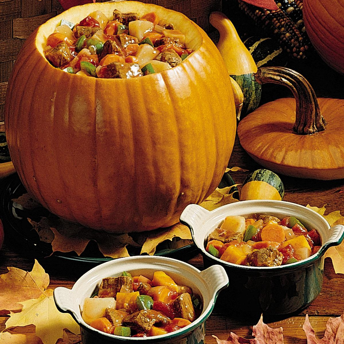 Halloween Main Dishes For Potluck  Pumpkin Stew Recipe