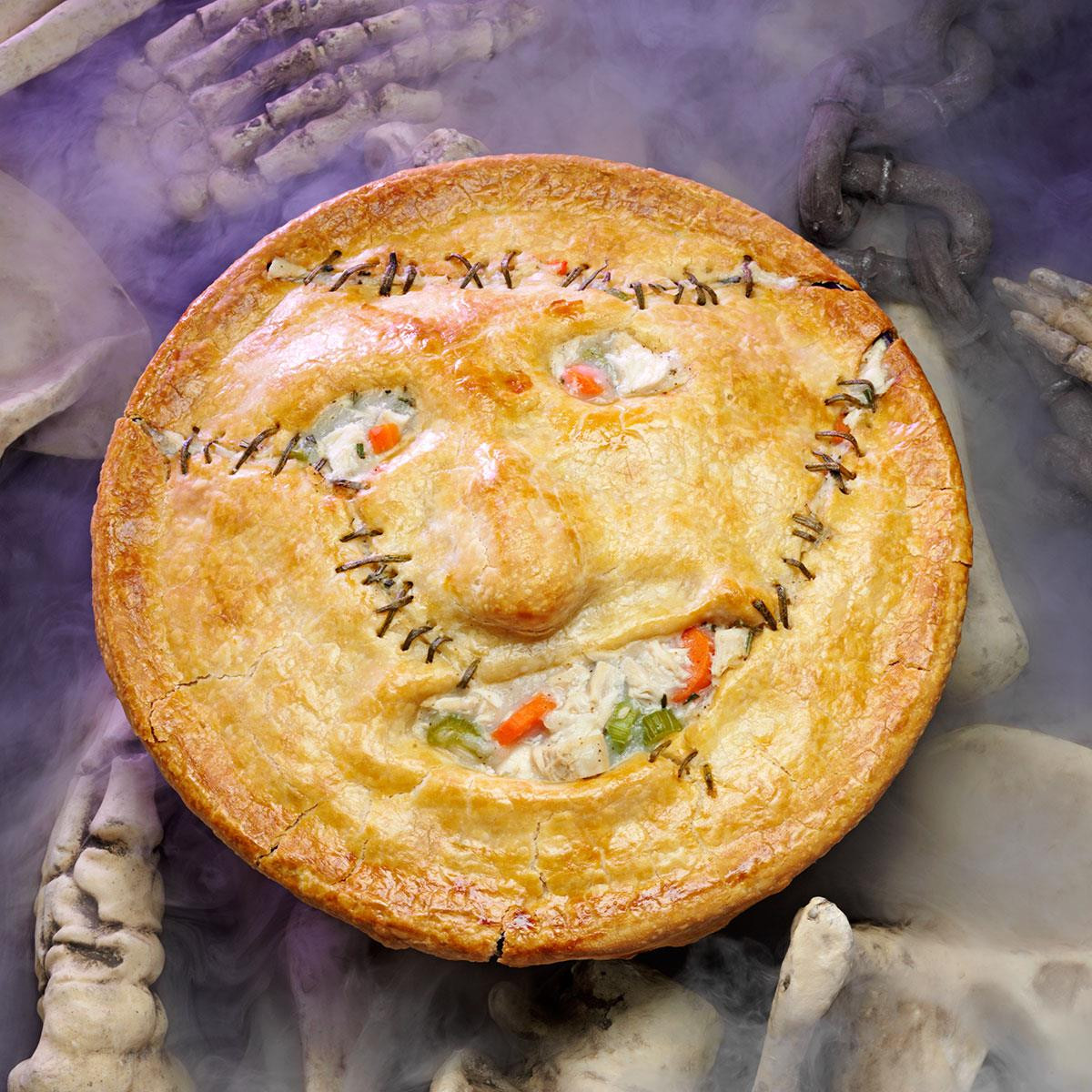 Halloween Main Dishes  Leatherface Potpie Recipe