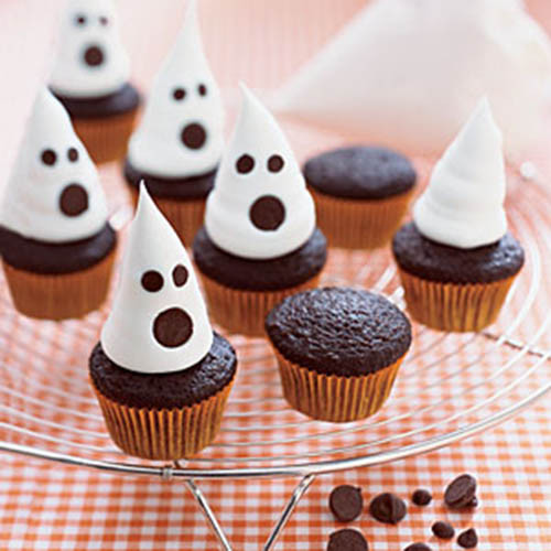 Halloween Mini Cupcakes  15 Halloween Ghost Desserts B Lovely Events