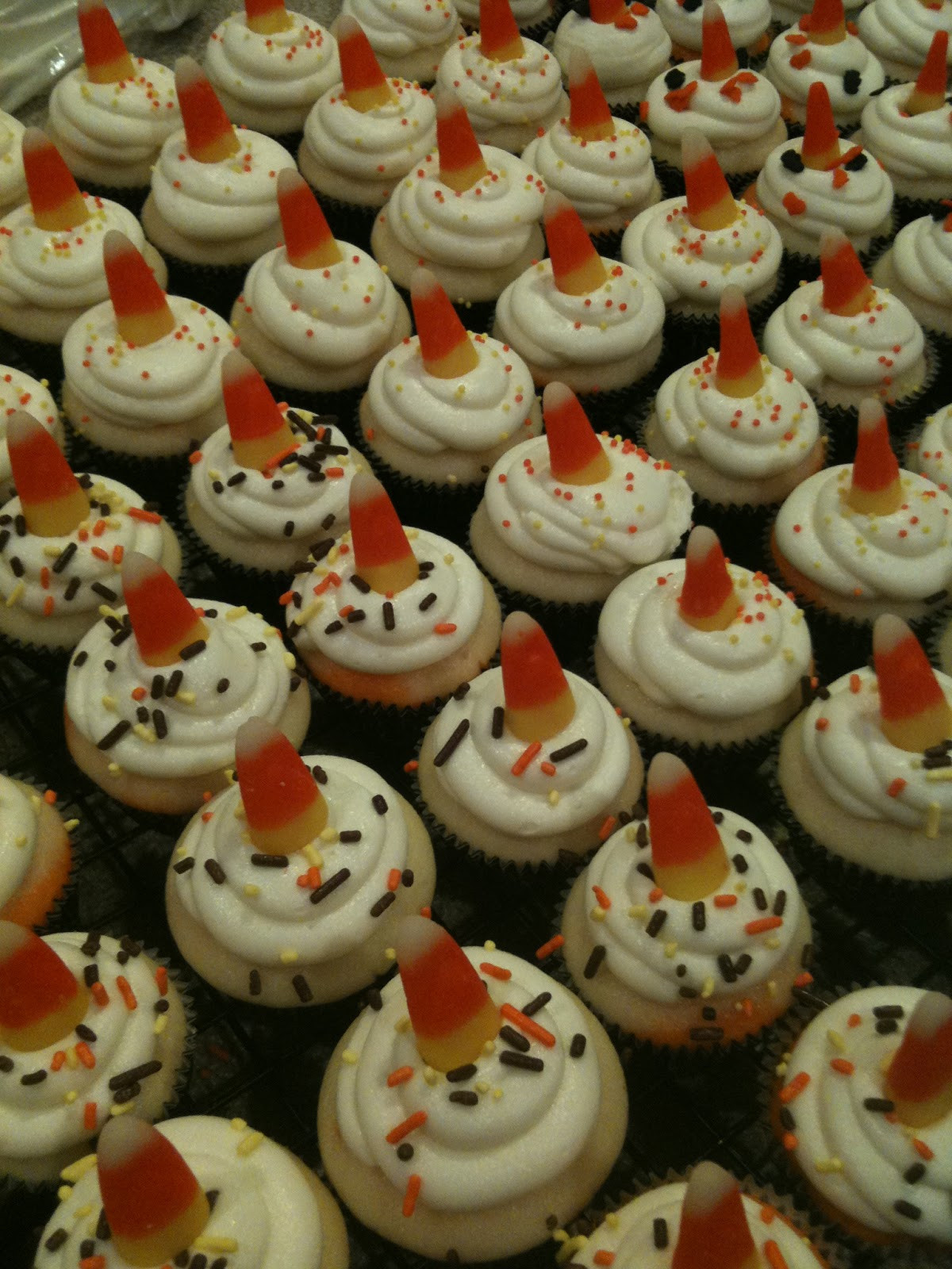 Halloween Mini Cupcakes  Jilly s Takes the Cake Candy Corn Halloween Mini Cupcakes