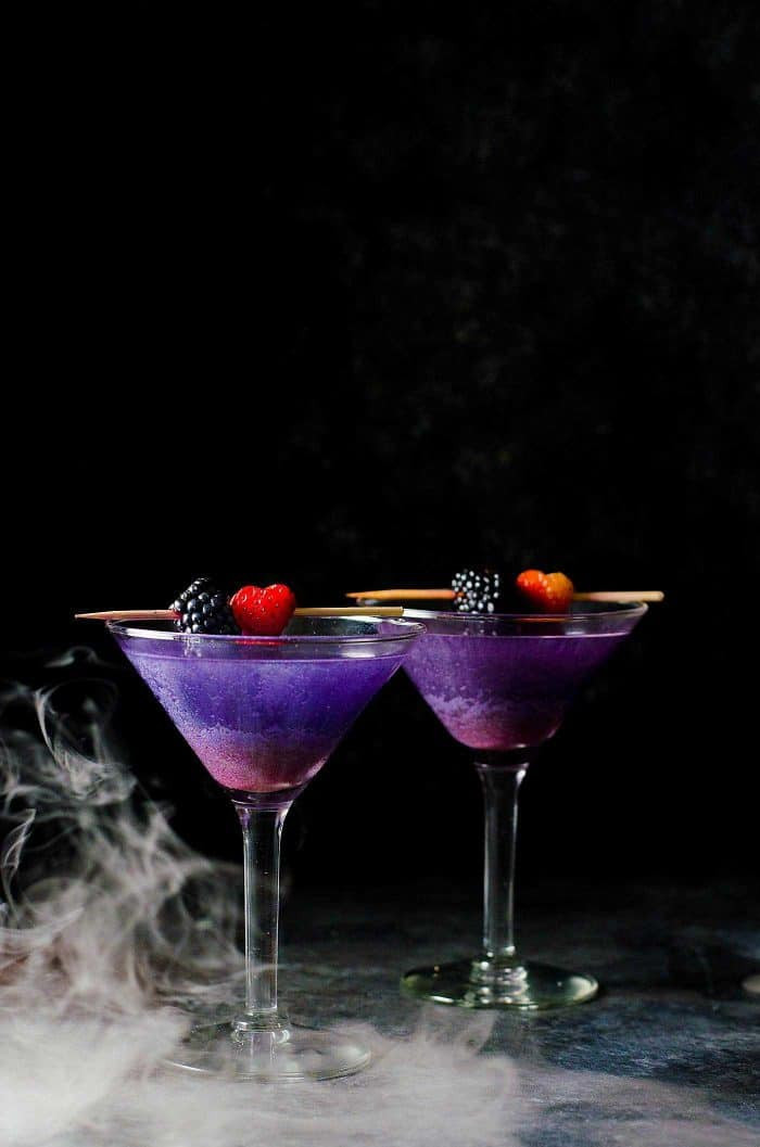Halloween Mixed Drinks  The Witch s Heart Halloween Cocktail The Flavor Bender