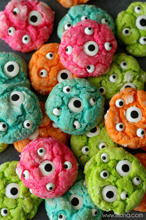 Halloween Monster Cookies  Gooey Monster Cookies