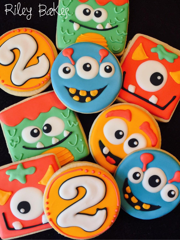 Halloween Monster Cookies  Monster Cookies Little Monsters Birthday Monster Bash