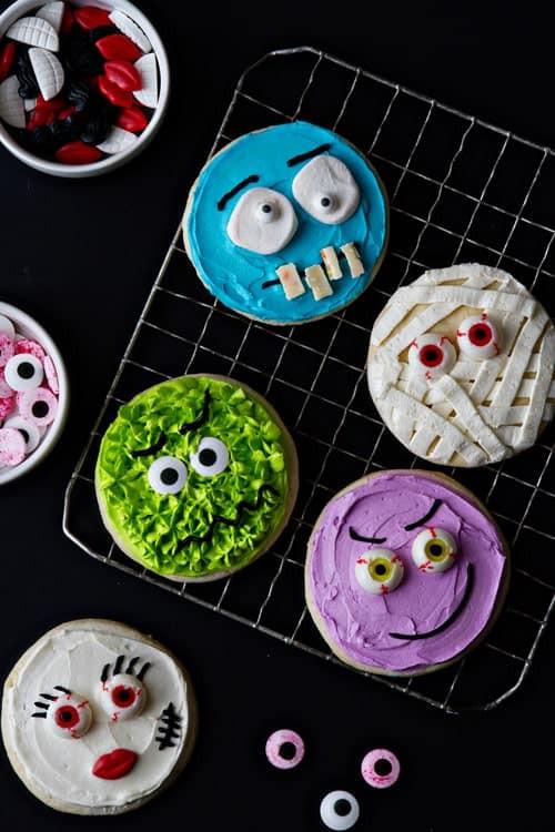 Halloween Monster Cookies  Halloween Monster Cookies