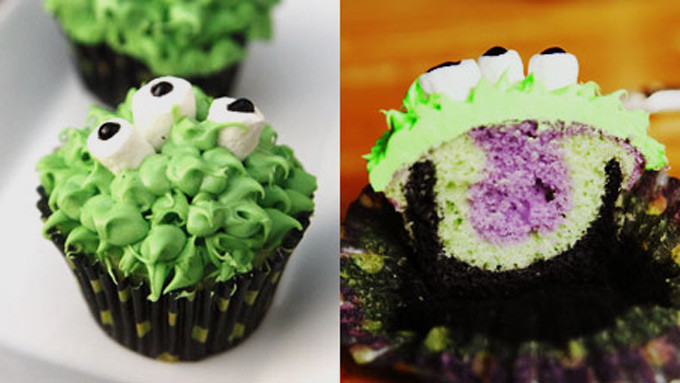 Halloween Monster Cupcakes  Skeleton Ve able Tray