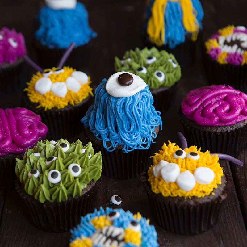 Halloween Monster Cupcakes  Monster Halloween Cupcakes Recipe