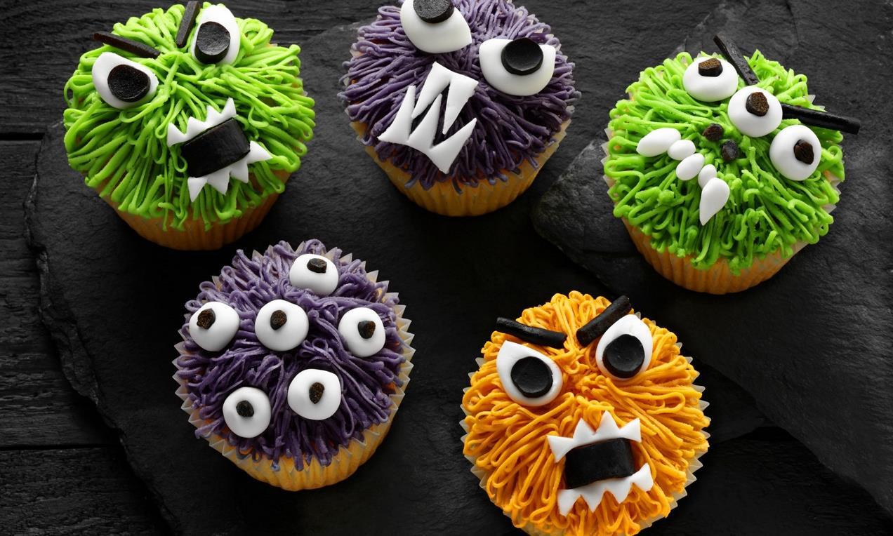 Halloween Monster Cupcakes  Halloween Monster Cupcakes Recipe
