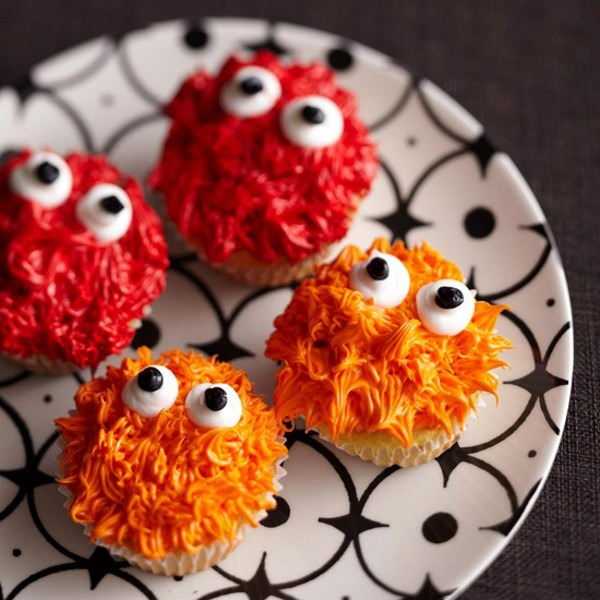 Halloween Monster Cupcakes  Halloween Party Recipes – Spooky Cupcakes Baking – Fresh