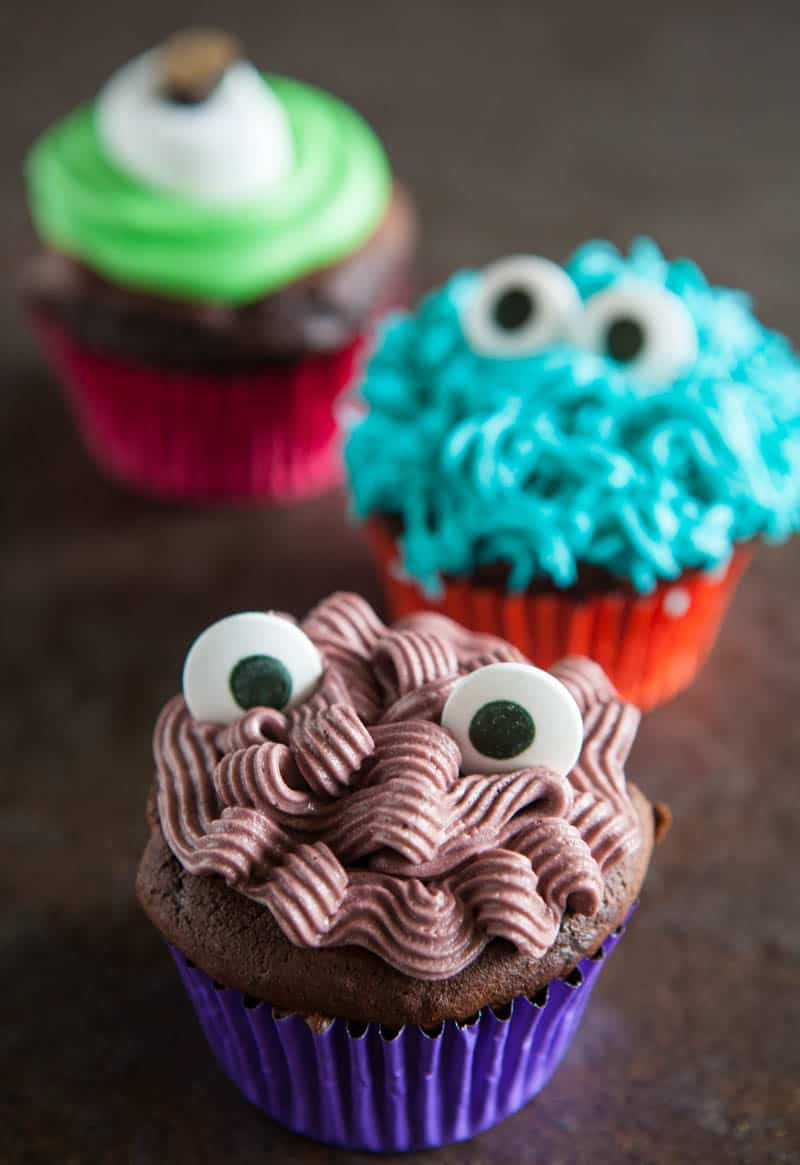 Halloween Monster Cupcakes  Eclectic Recipes Monster Cupcakes