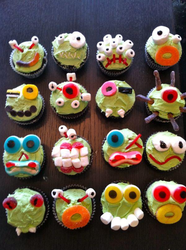 Halloween Monster Cupcakes  Creepcakes Halloween monster cupcakes food