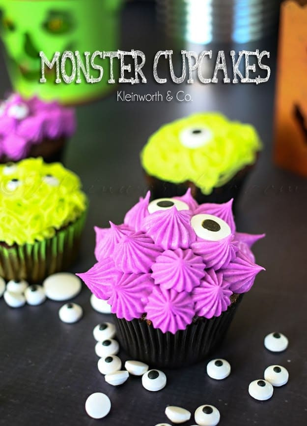 Halloween Monster Cupcakes  20 Fun Halloween Recipes