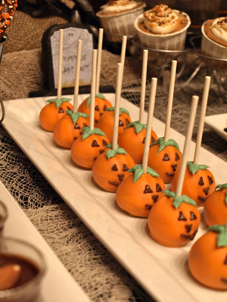 Halloween Party Desserts  a party style halloween dessert table