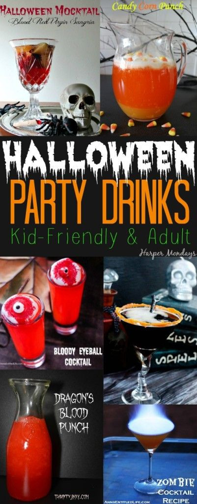 Halloween Party Drinks For Adults  Halloween party drinks Party drinks and Halloween party