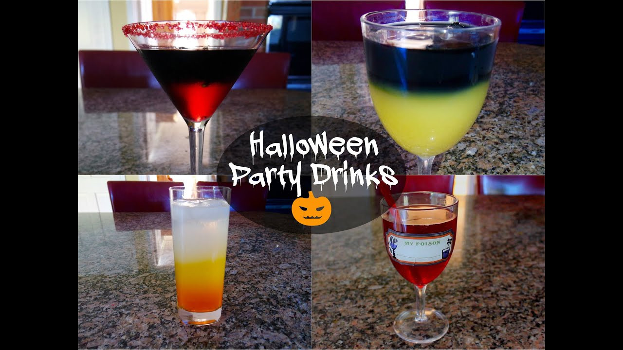 Halloween Party Drinks  Halloween Party Drinks Alcoholic & Non Alcoholic