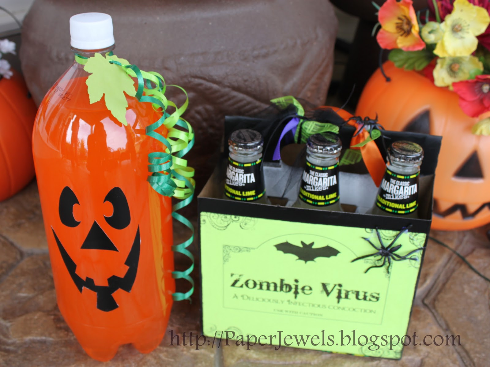 Halloween Party Drinks  Paper Jewels and other Crafty Gems Simple and Spooky