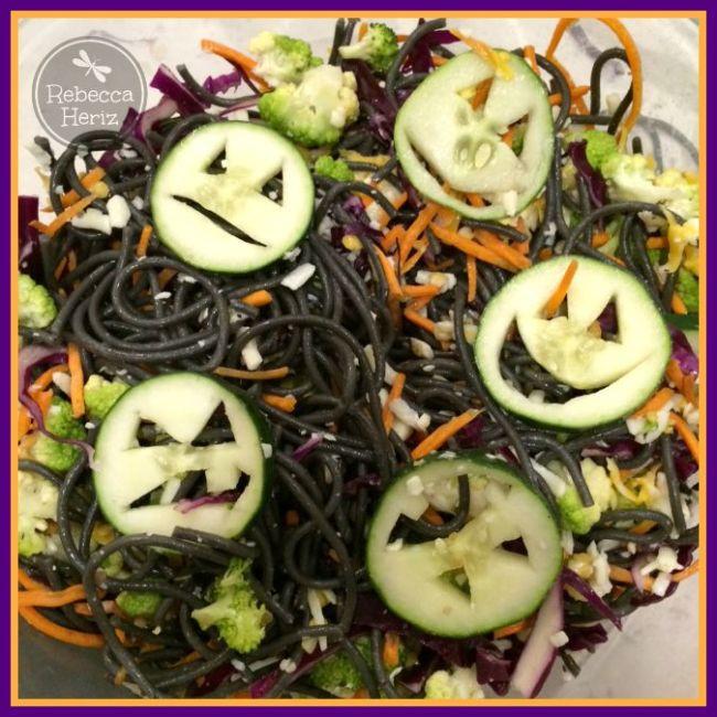 Halloween Pasta Salad  Sugar Free Halloween Buffet Party