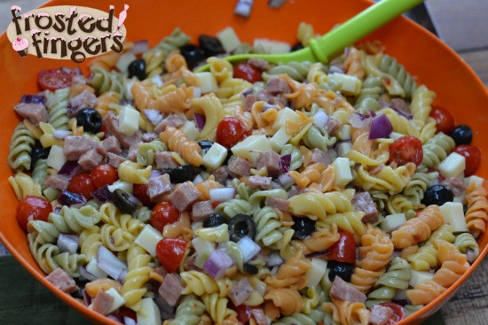 Halloween Pasta Salad  halloween pasta salad
