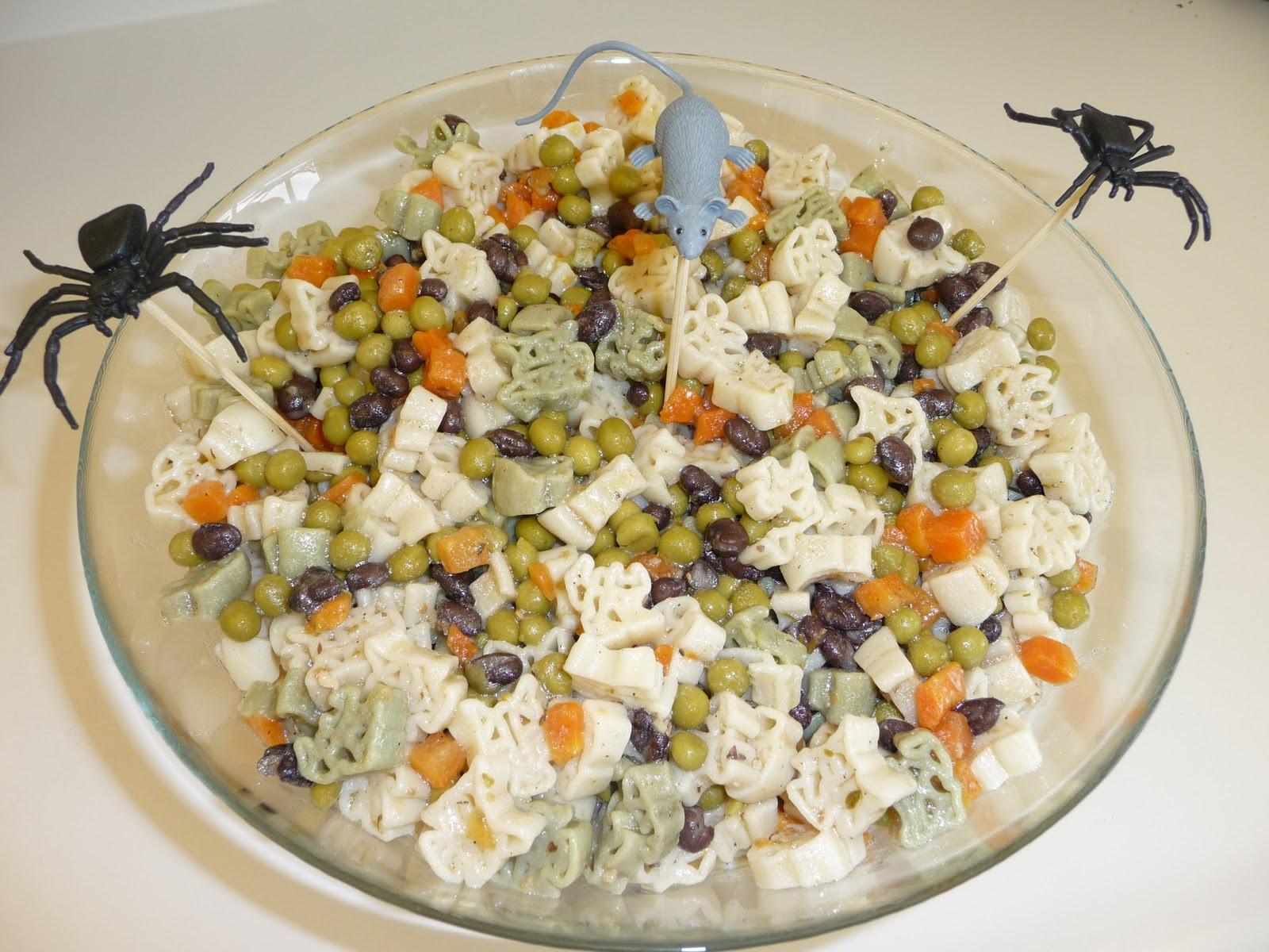 Halloween Pasta Salad  Diary of a Nutritionista Happy Halloween
