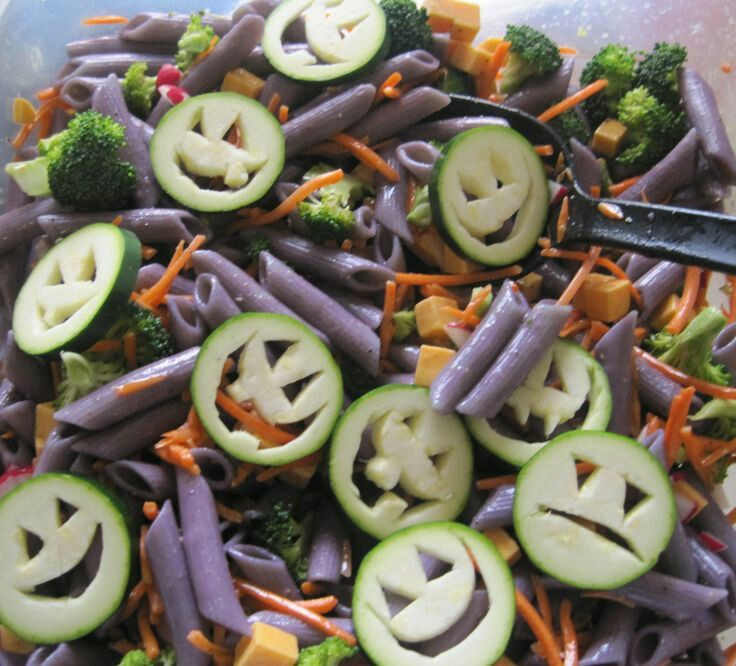 Halloween Pasta Salad  Halloween Ve able And Pasta Salad s and