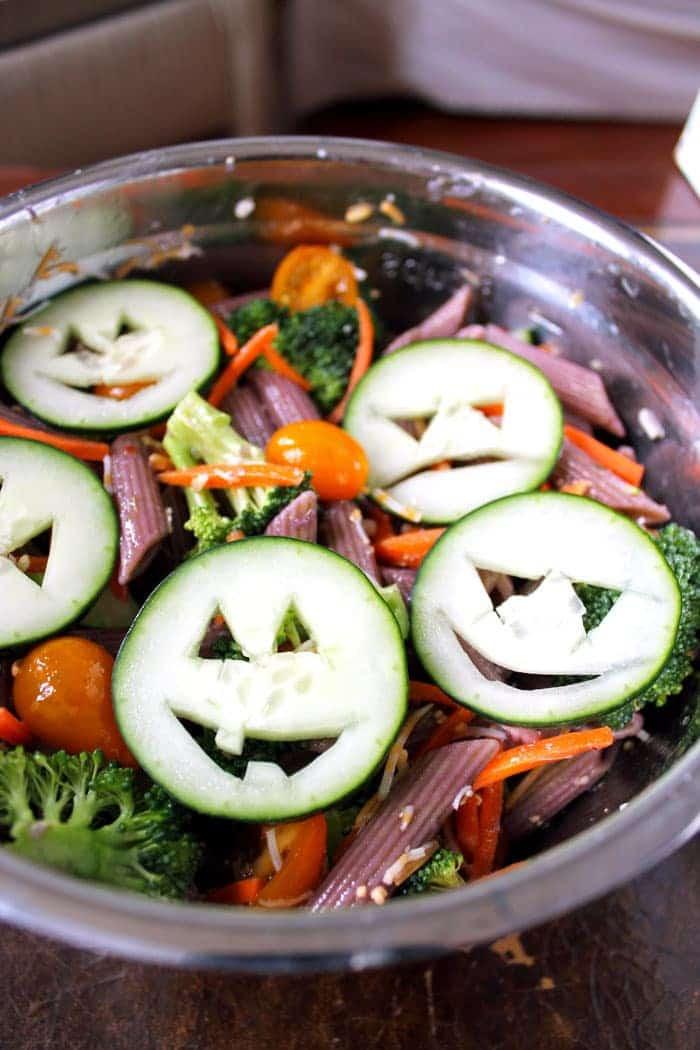 Halloween Pasta Salad  Healthy Halloween Pasta Salad Smile Sandwich