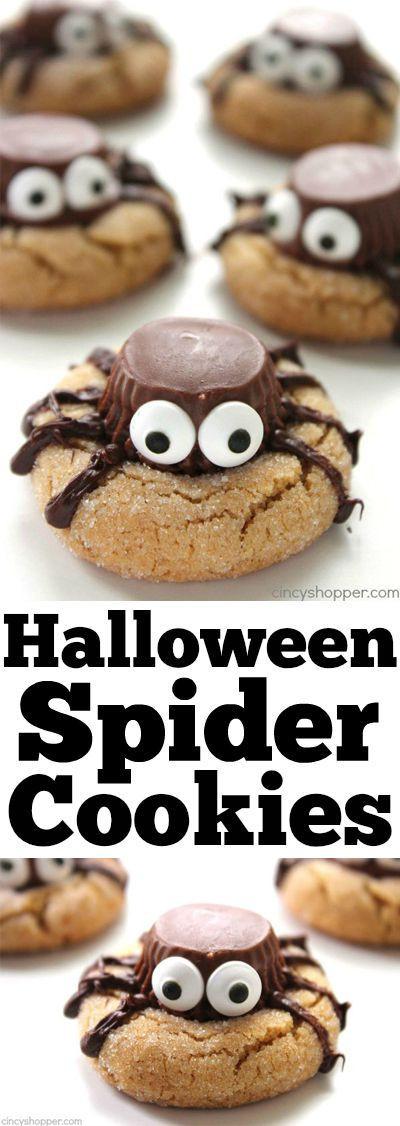 Halloween Peanut Butter Cookies  Halloween Spider Cookies Recipe