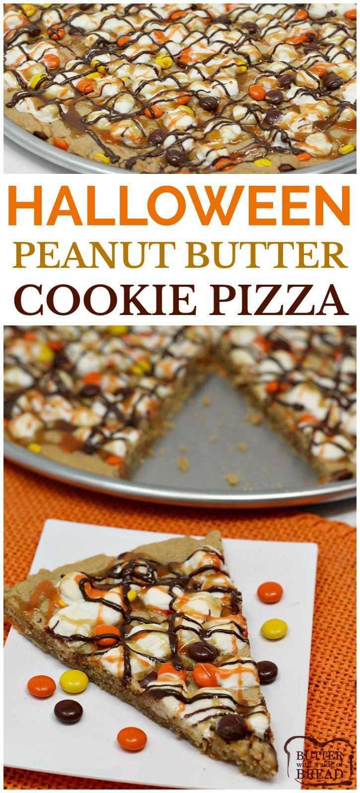 Halloween Peanut Butter Cookies  HALLOWEEN PEANUT BUTTER COOKIE PIZZA Butter with a Side