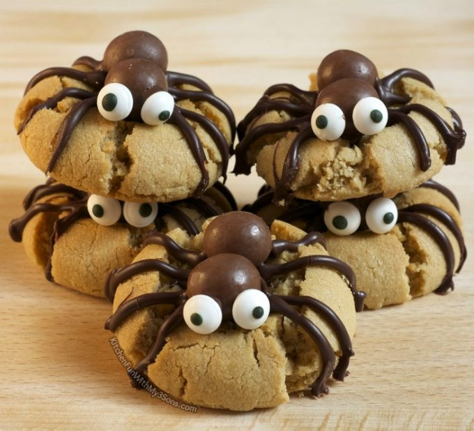Halloween Peanut Butter Cookies  Halloween Spider Cookies Kitchen Fun With My 3 Sons