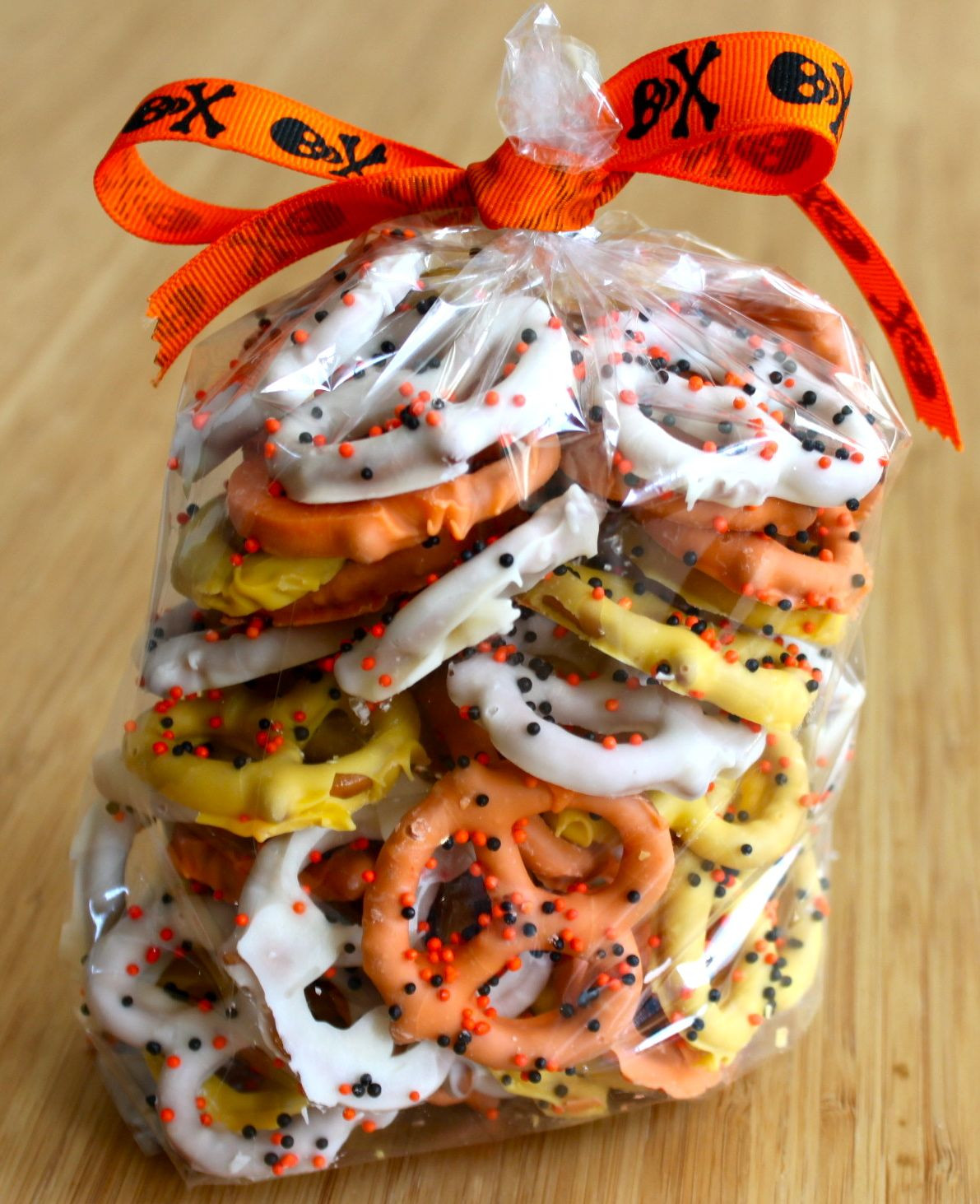 Halloween Pretzels Treats  Baked Perfection Candy Corn themed Chocolate Covered Pretzels