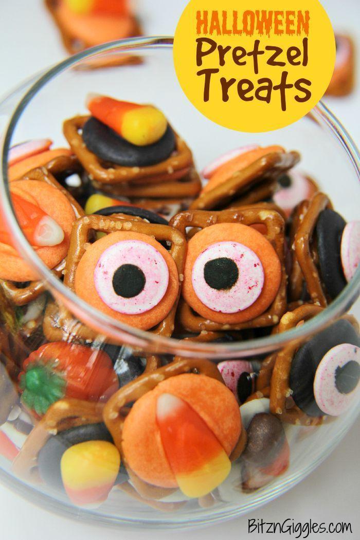 Halloween Pretzels Treats  Halloween Pretzel Treats