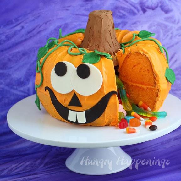 Halloween Pumkin Cakes  Halloween Dessert Pumpkin Pinata Cake Hungry Happenings
