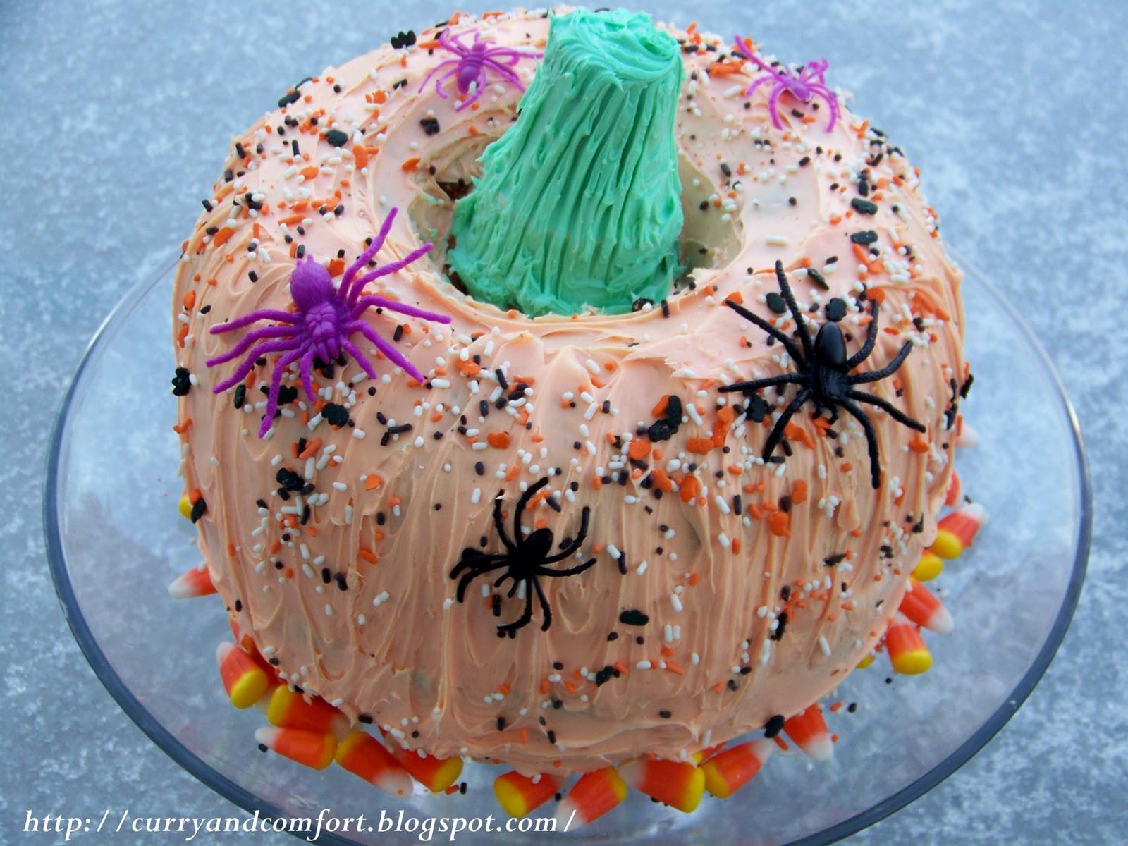 Halloween Pumkin Cakes  Kitchen Simmer Happy Halloween Pumpkin Cake