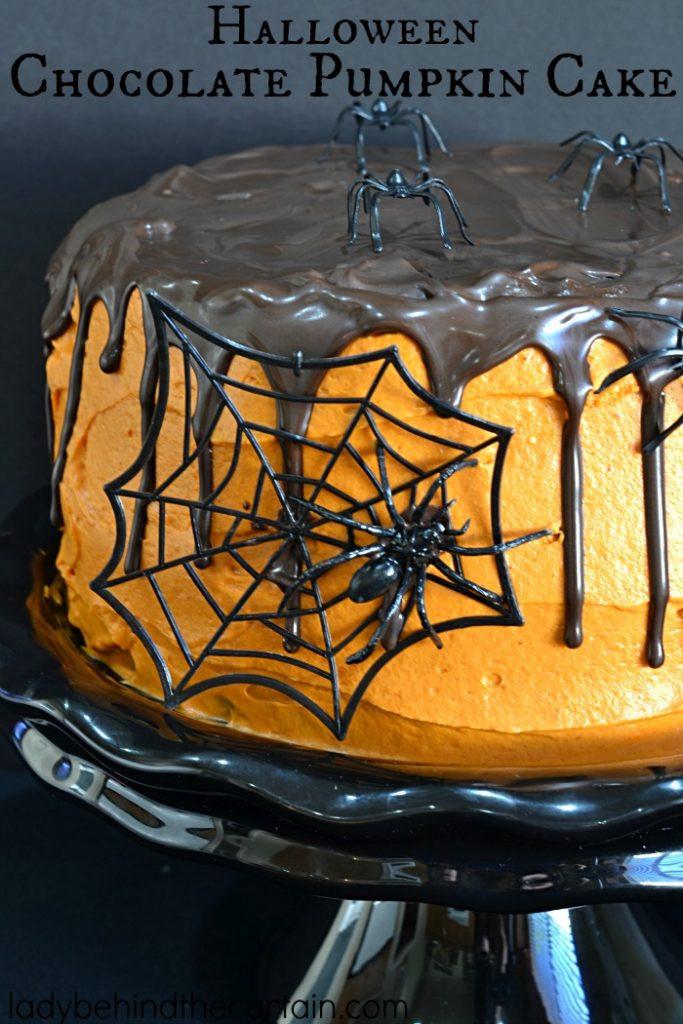 Halloween Pumpkin Cake  Halloween Chocolate Pumpkin Cake