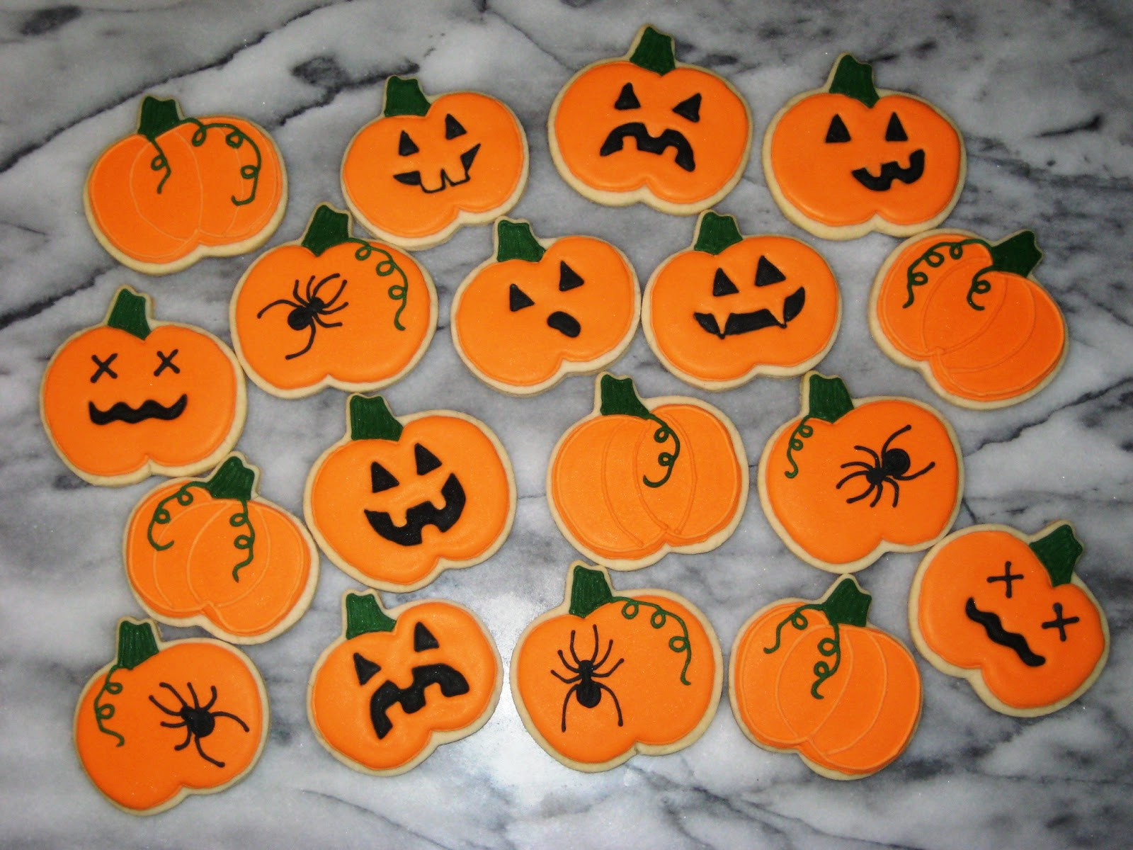 Halloween Pumpkin Cookies  Cammy s Kitchen f Topic Decorated Cookies Shabby