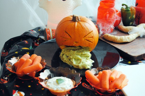 Halloween Pumpkin Recipes  Halloween party food ideas Puking pumpkin dip goodtoknow