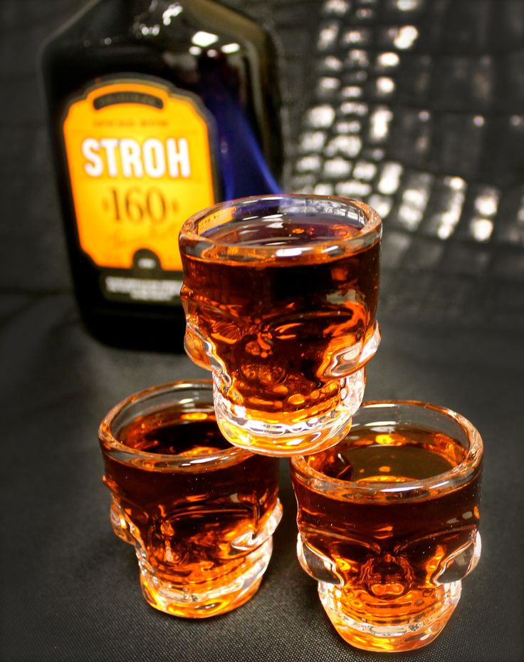 Halloween Rum Drinks  Stroh 160 Spiced Rum on fire