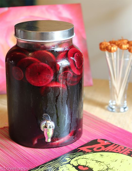 Halloween Rum Drinks  Spiced Rum and Red Wine Sangria perfect for a Walking