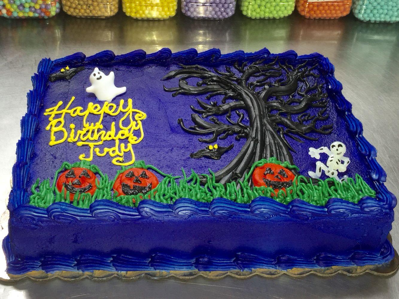 Halloween Sheet Cake  Halloween Sheet Cake Happy Halloween